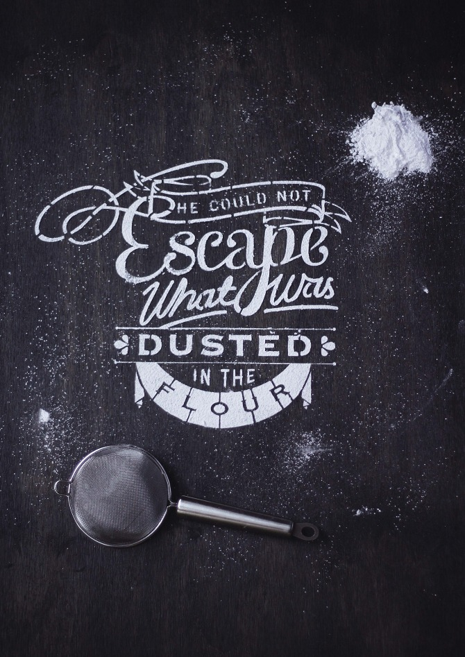 Nina Harcus - click for more food + typography