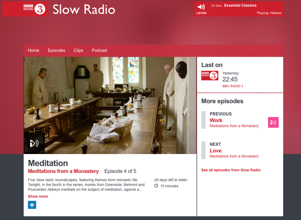 BBC Radio 3 - Meditations from a Monastery