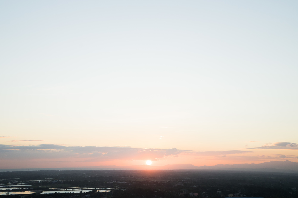 Sunset from Injap Hotel's Helipad! Everything was beautiful.