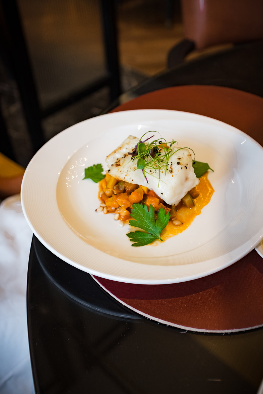 Cabillaud - Pan Roasted Black Cod Fillet With Ratatouille