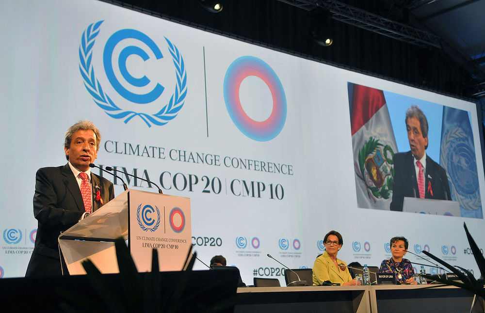 Opening of COP20 by Peruvian Minister of Foreign Affairs Gonzalo Gutiérrez Reinel
