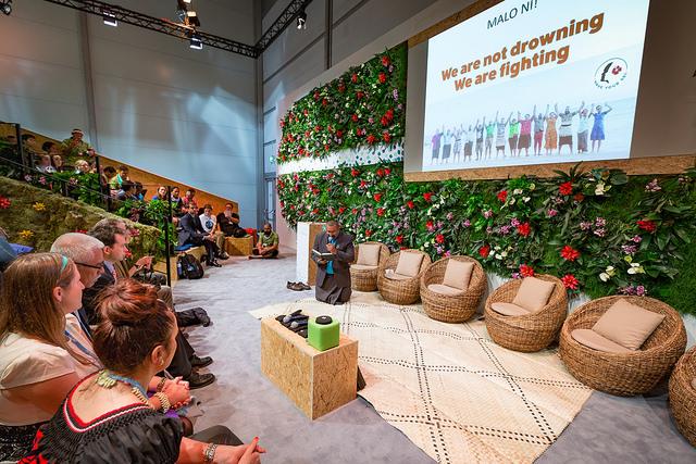 Fra de pågående klimaforhandlingene i Bonn (COP23). Foto: UNClimatechange.