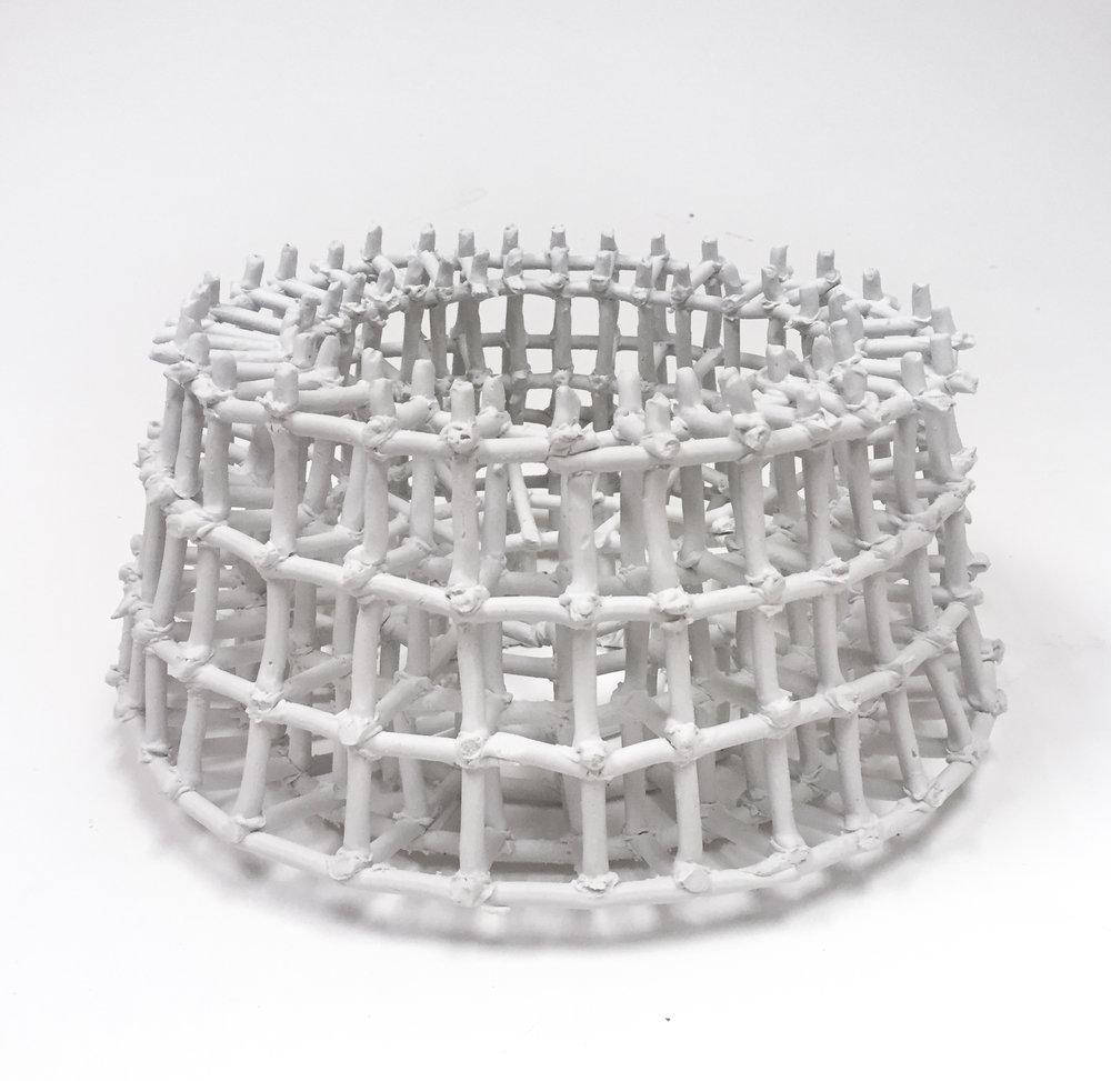 Storage Basket for Dried Sardines , 7x15x15, Porcelain, 2019