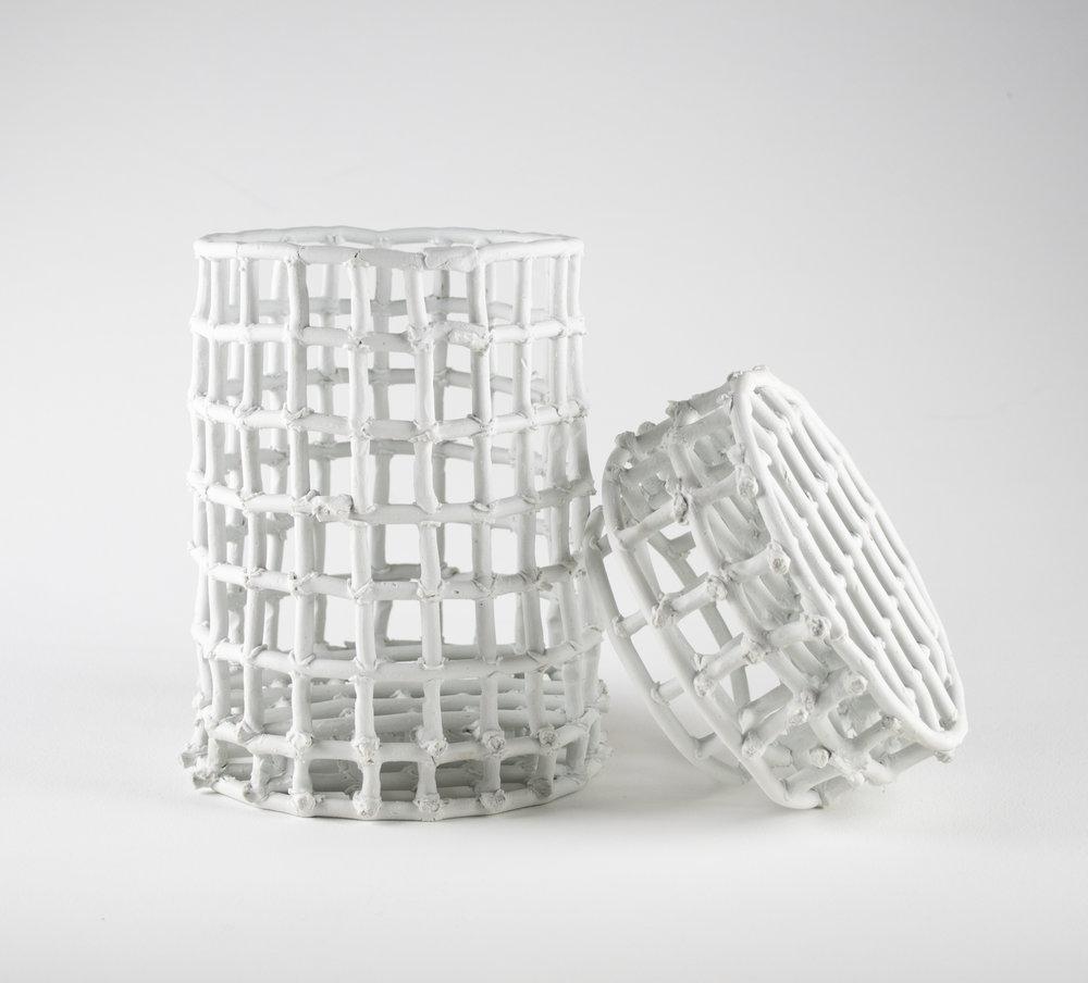 Basket for Storing Live Eels , 12x7x7, Porcelain, 2019,