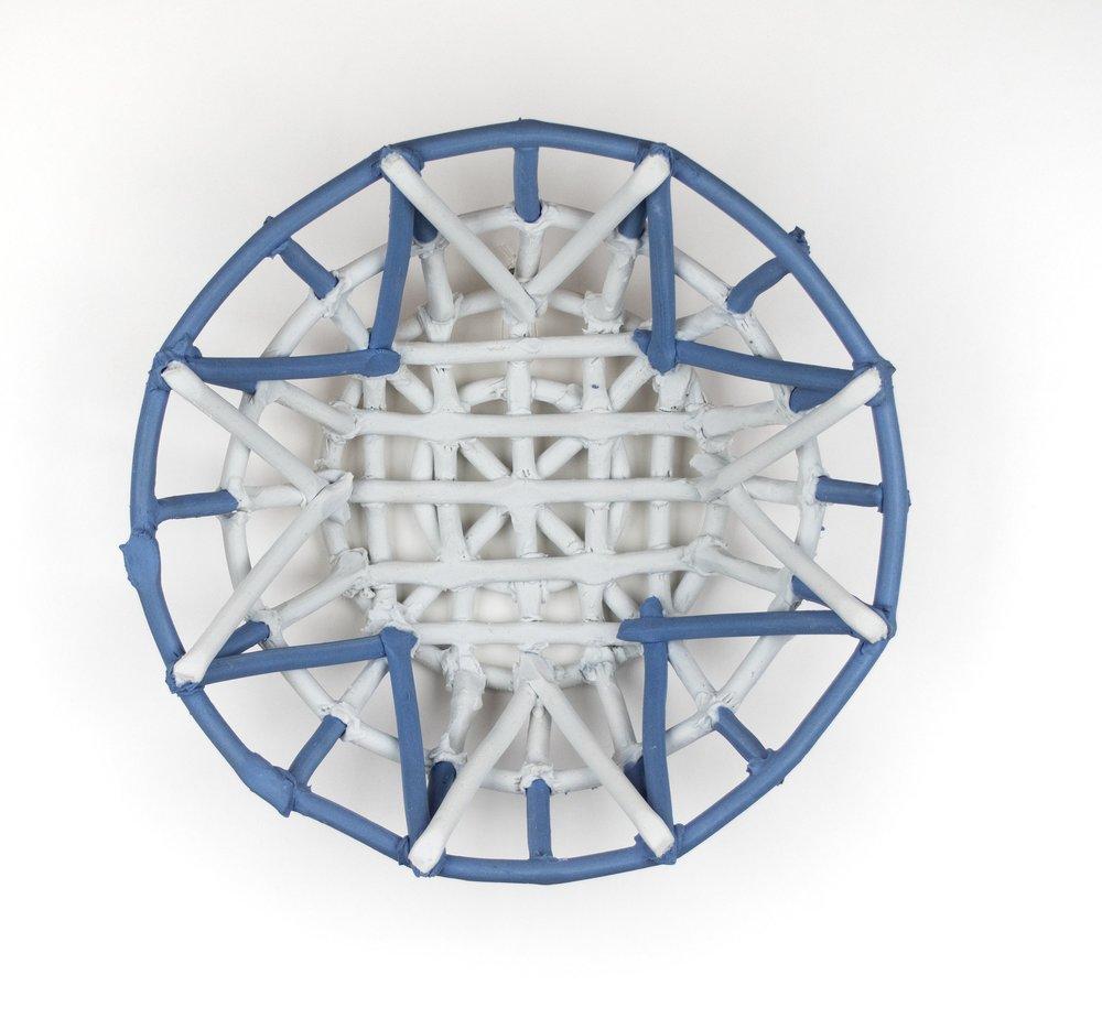 Blue and White Colander , 9.5x9.5x3, Porcelain, 2019
