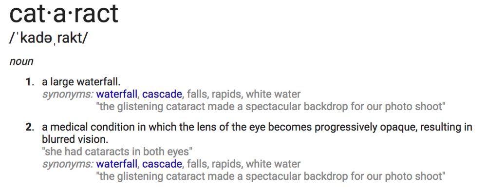 Did you even know you can cry a cataract out of your cataract? You can.