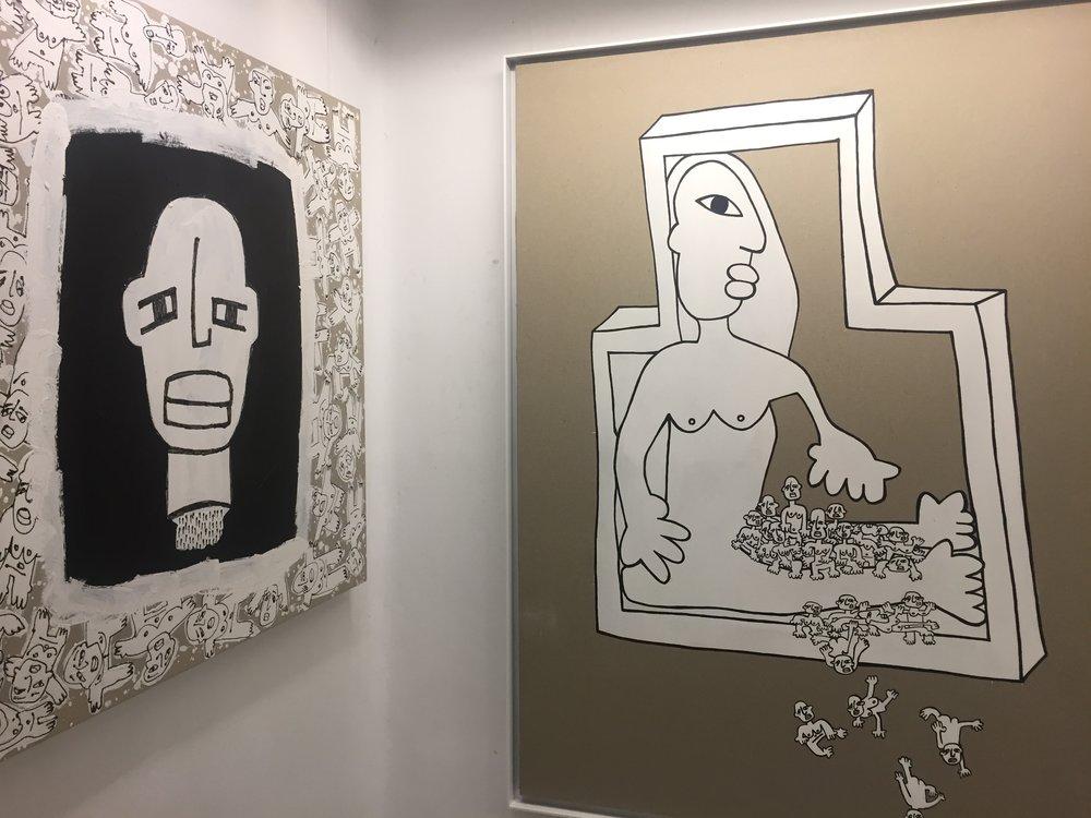 Obras del artista Joaquín Barón expuestas en Galería Thema.