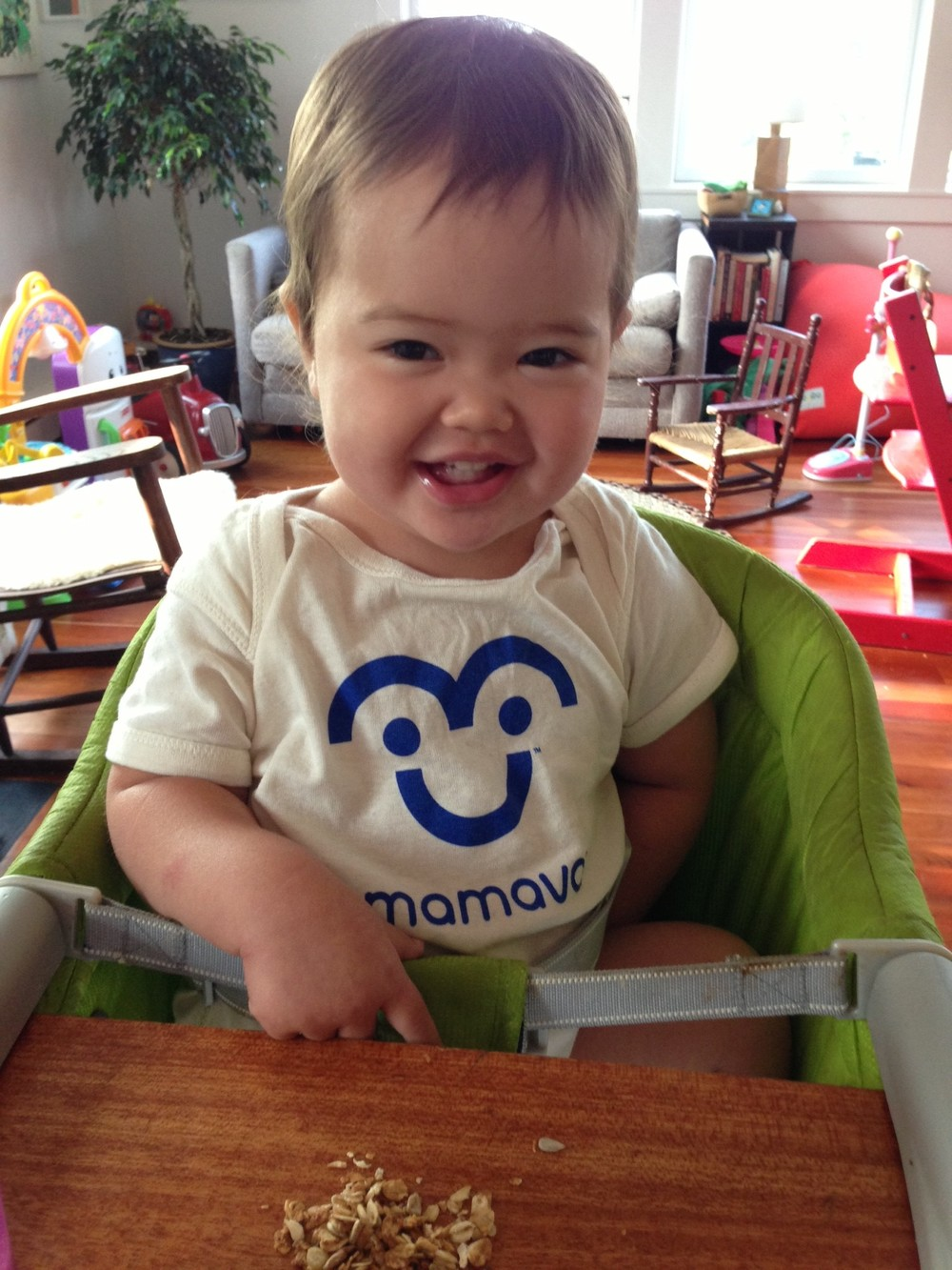 Baby in Mamava Onesie