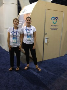 Co-Founders, Sascha and Christine at the ABC Kids Expo in Las Vegas