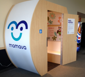 Mamava at the Burlington International Airport, located post-security and close to the restrooms.