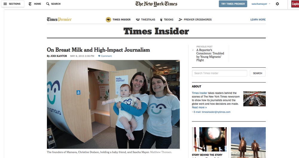 NYT On Breast Milk and High-Impact Journalism