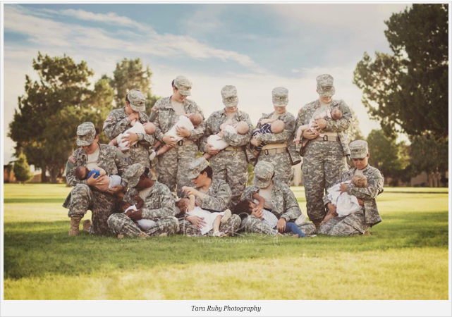 Military Women Breastfeeding