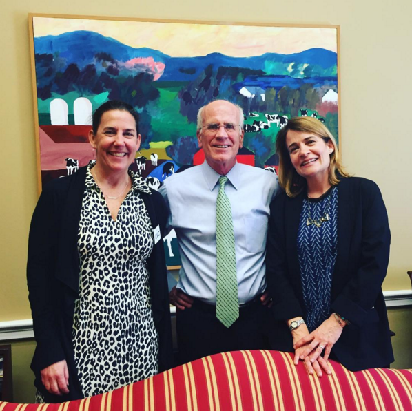 Sascha and Christine with Peter Welch