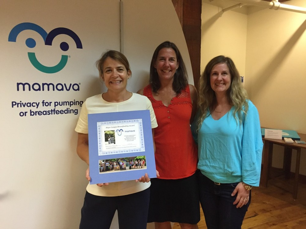 Mamava co-founders Sascha and Christine, with breastfeeding activist Kate Frederick.