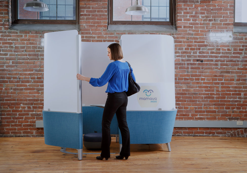Design solutions for pumping mamas at work.     Learn about the Mamava Mini
