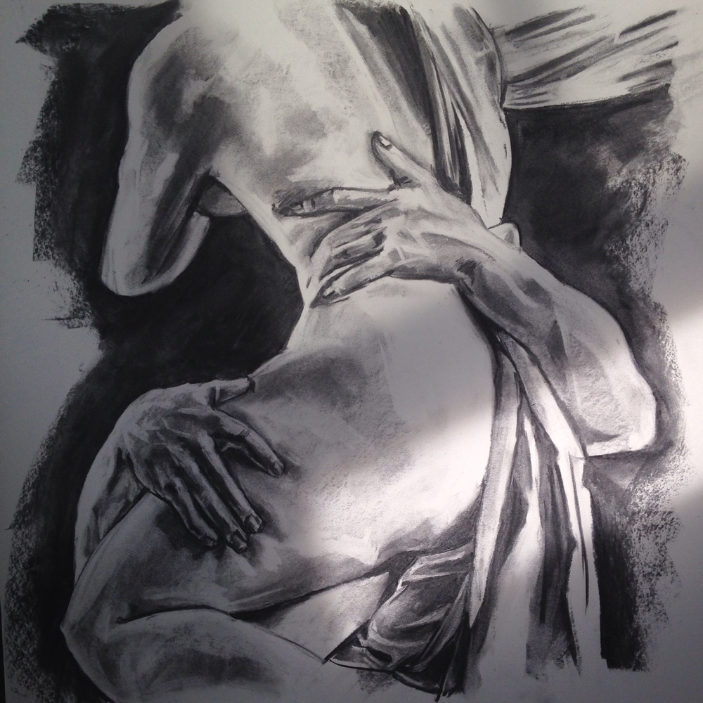 Charcoal, 18x24 in