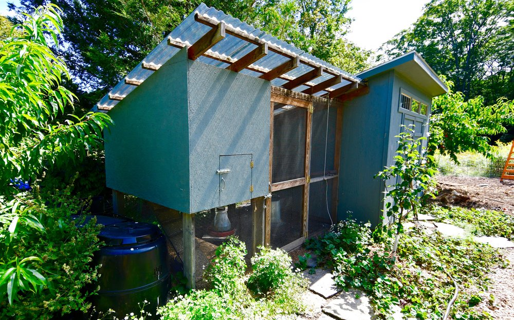 SCOPE OF WORK  - Custom chicken coop installation  - Shed installation  - Fruit tree plantings  - Electric fence installation