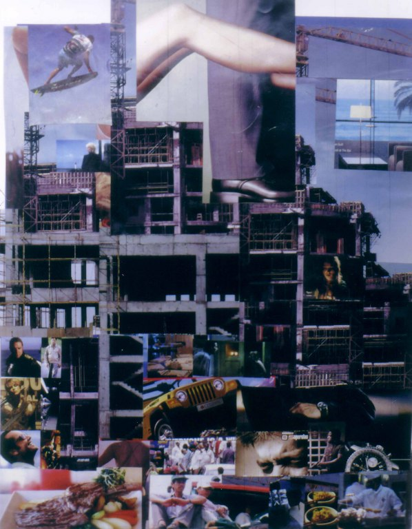 UNTITLED 2006; collage; 72 x 50 cm