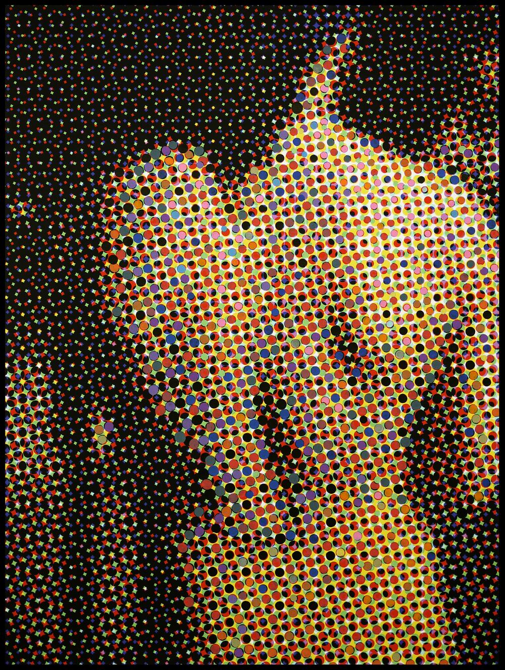 """Ou est la photographie?  Solo Show   Addict Gallery    """"nu de dos"""" #4 2015 Acrylique sur toile imprimée 120cmx90cm"""