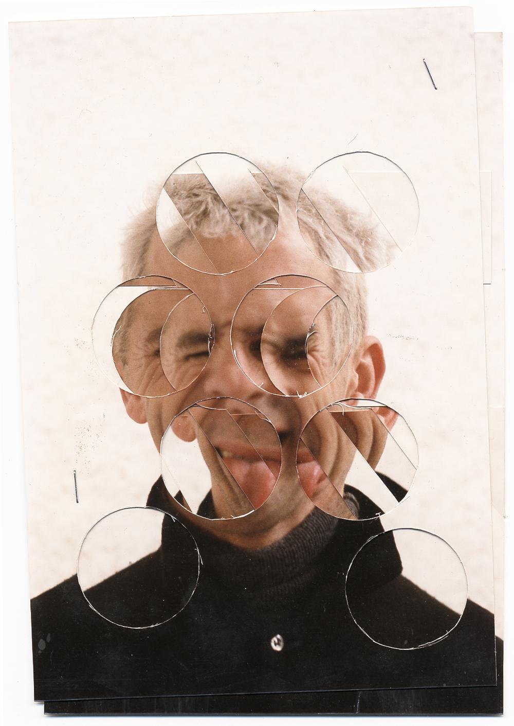 """""""Autoportrait"""" 2002 Photos découpées 21cmx16cm"""
