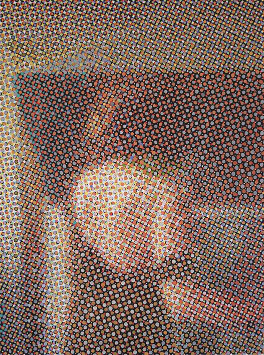 """""""rosangela"""" Acrylique sur toile imprimée 2015"""