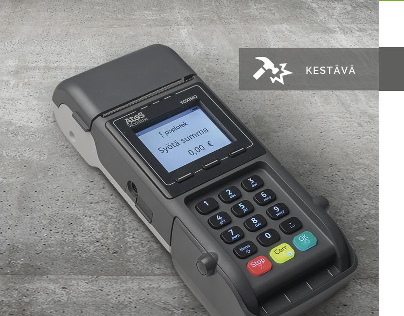 Yoximo - Yoximo on 3G- ja WLAN-yhteydellä toimiva kannettava maksupääte, jota voi käyttää sekä erillispäätteenä että kassajärjestelmiin integroituna.