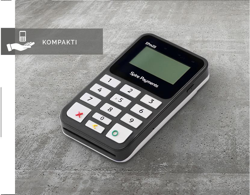 SPIRE - Poplatekin uusi Spire SPm20 -maksupääte tuo mPOS-myynnin edut kaikkien kauppiaiden ulottuville liikevaihtoon katsomatta. Spire SPm20 -pääte on mahdollista integroida mihin tahansa kassaohjelmaan.