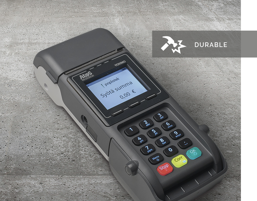 Yoximo - Yoximo on 3G- ja WLAN-yhteydellä toimiva kannettava maksupääte, jota voi käyttää sekä erillispäätteenä että kassajärjestelmiin integroituna.Katso esite (en) (fi)|Pyydä tarjous