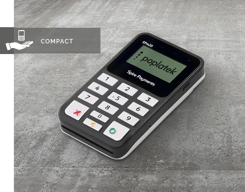 SPm20 - SPm20 on bluetooth-yhteydellä toimiva kassajärjestelmiin integroitava kannettava maksupääte. Maksupäätteen kätevä koko, helppokäyttöisyys ja nopeus tuovat vauhtia ja varmuutta monipuoliseen myyntiin.Katso esite (fi) | Pyydä tarjous