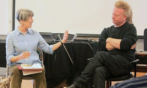 Photo: Ellen Parks, David Pope during inaugural Lab in 2013