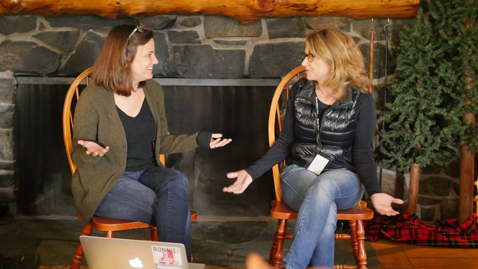 Tangerine Partners Amy Hobby and Anne Hubbell discuss taking a meeting at the Stowe Story Labs' May 2016 Writers' Retreat