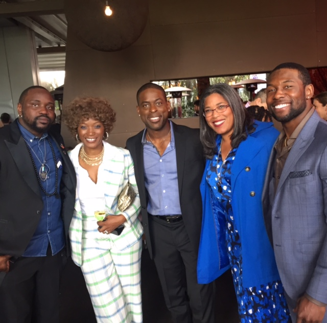 Brian Tyree Henry (ATLANTA), Yolonda Ross (THE CHAI), Sterling K. Brown (THIS IS US), DarrienMichele Gipson and Trevante Rhodes (MOONLIGHT) at the 2017 Film Independent Spirit Awards Nominee Brunch.