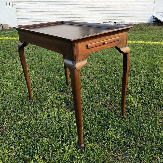 This little piece cleaned up nice!  Think we'll put this little gem in the Zirkle Library at the Hardesty Higgins House #virginiacraftsmen #original #handmadefurniture