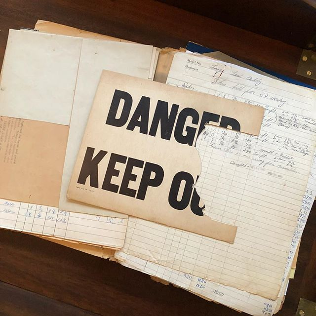 You do what you have to do. Every old folder I sort through gives me the inspiration I need to keep going.  Safety signs, a dime a dozen, patterns cut from them by the masters before me, Priceless #keepingcraftsmanshipalive #virginiacraftsmen #furniturepattern #dangerkeepout #thrifty
