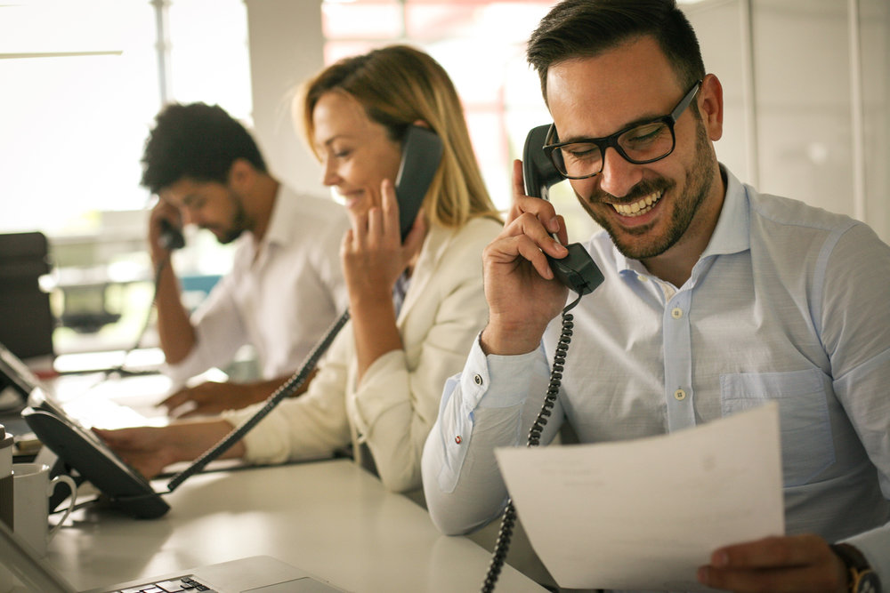 customer service at a call center