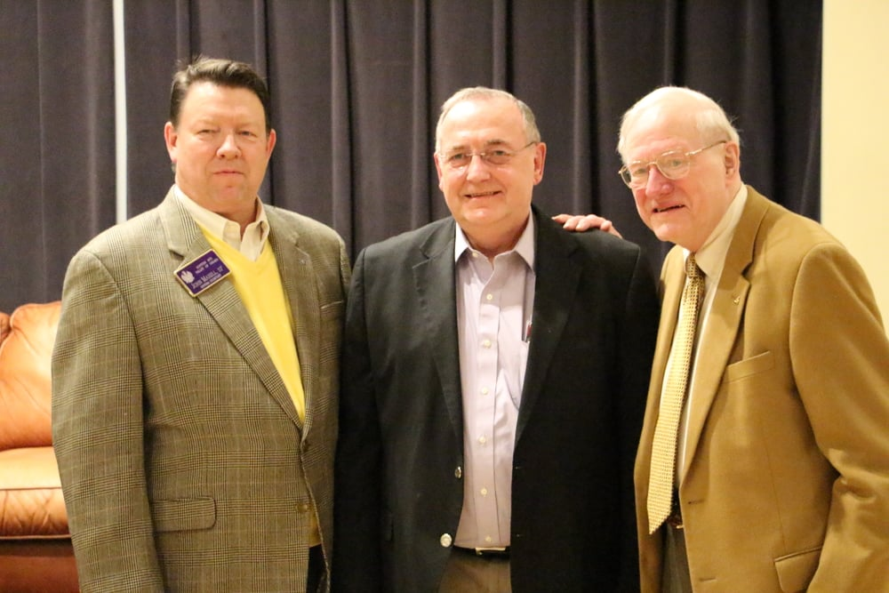 Three generations of General Secretaries: John Maxell, 33° (2016-), Curt Edic, 33° (1999-2015), and Jim Erixon, 33° (1996-1999)