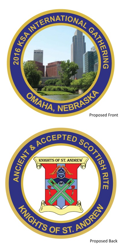 Proposed design for a challenge coin for KSA Gatherings attendees