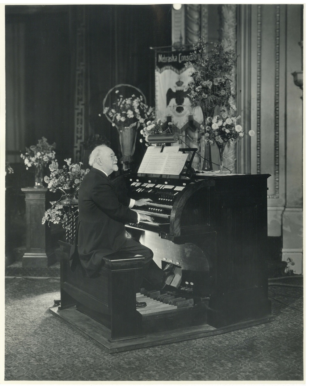 Clarence Eddy at the Scottish Rite organ dedication in September, 1926.