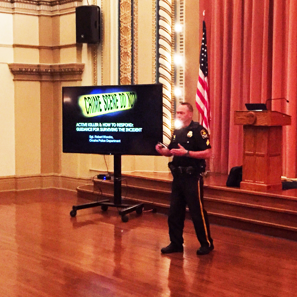 Omaha Police Department Sgt. Robert Wondra discusses 'Active Killer' Situations