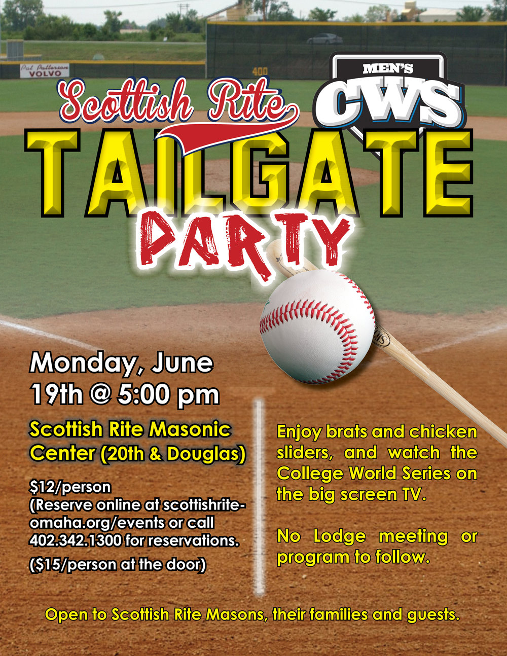 Click above to download a PDF flier for the CWS tailgate party.