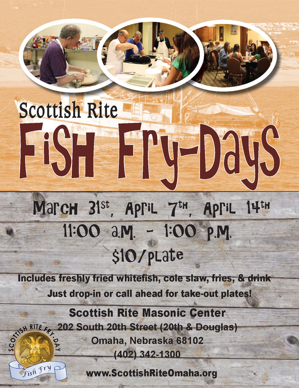 Click the above image to download a PDF flier of the fish fry flier.