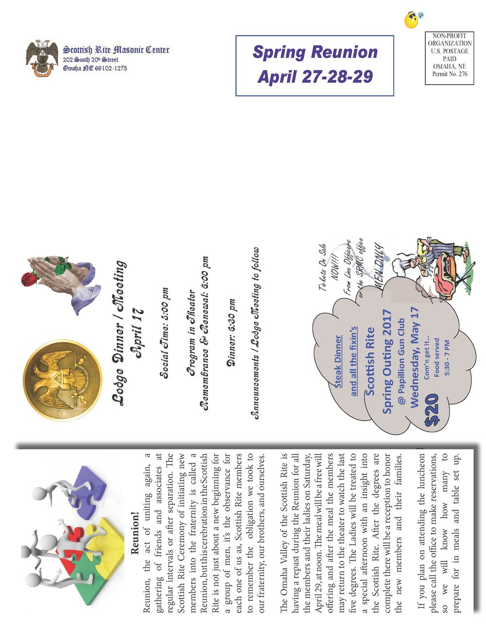 April, 2017 Lodge notice