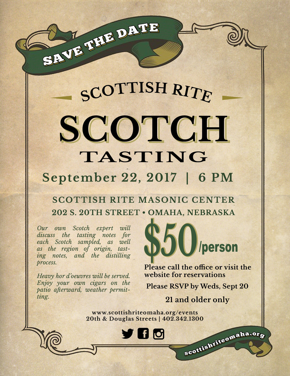 Click above image to download PDF flier for the September Scotch tasting.