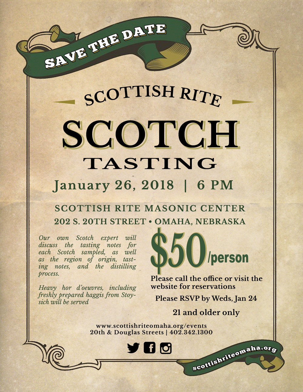 Click above image to download a PDF flier for the January Scotch tasting.