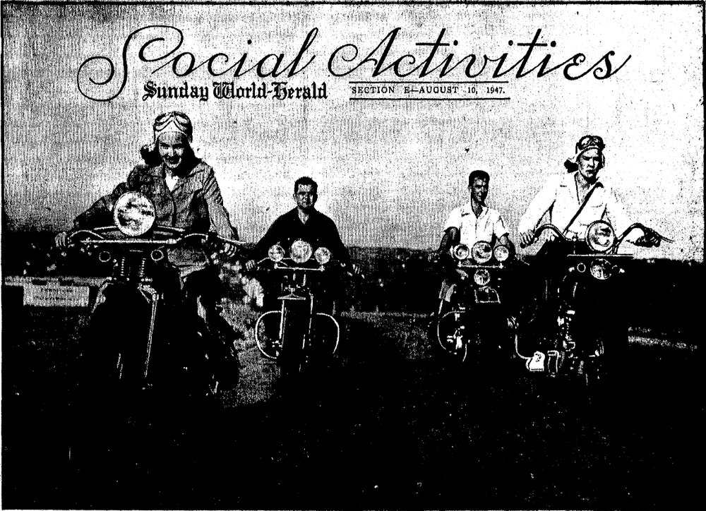 Aug 10 1947 OWH Jerome Given motorycycle.jpg