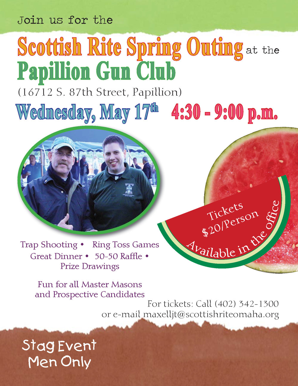 Click above image to download PDF of the Spring Outing flier.