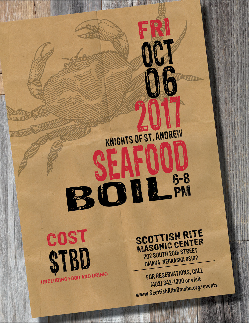 Click above image to download a PDF flier for the Seafood Boil
