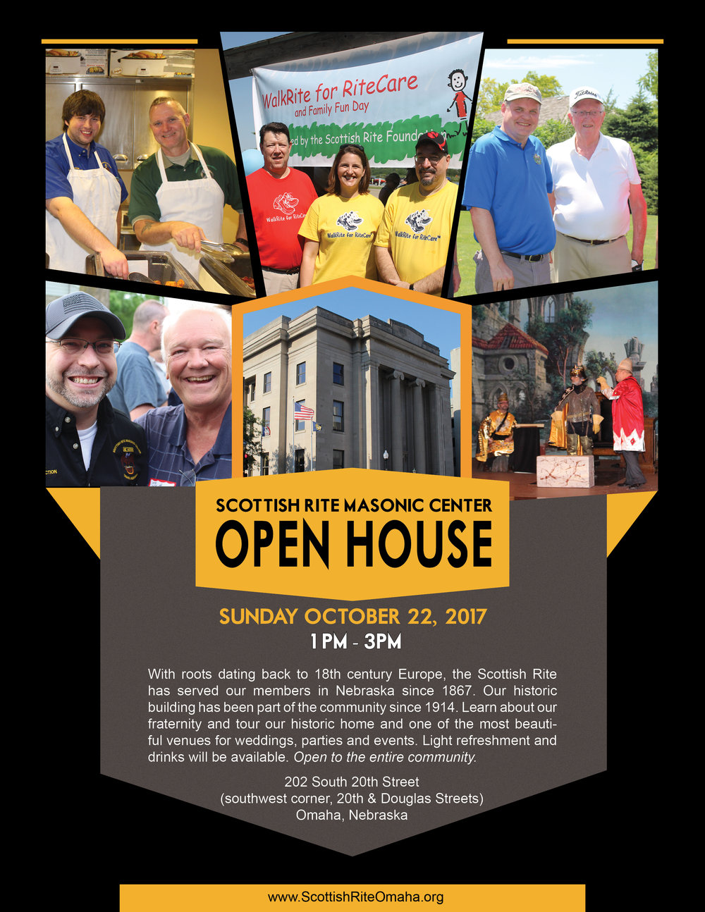 Click above to download a PDF flier for the Scottish Rite Open House