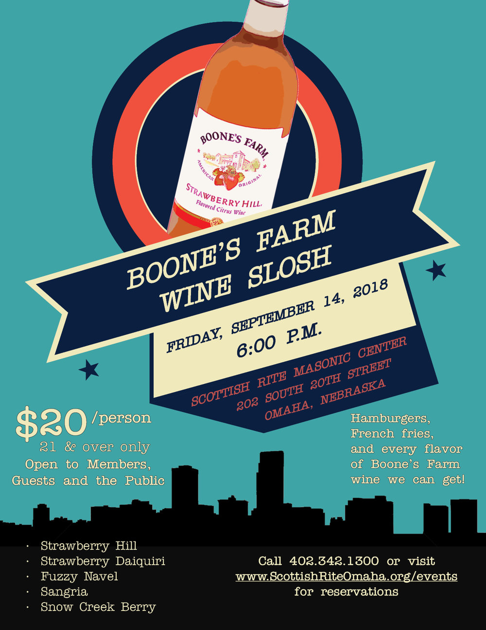 Click above to download a PDF of the Boone's Farm Wine Slosh flier.