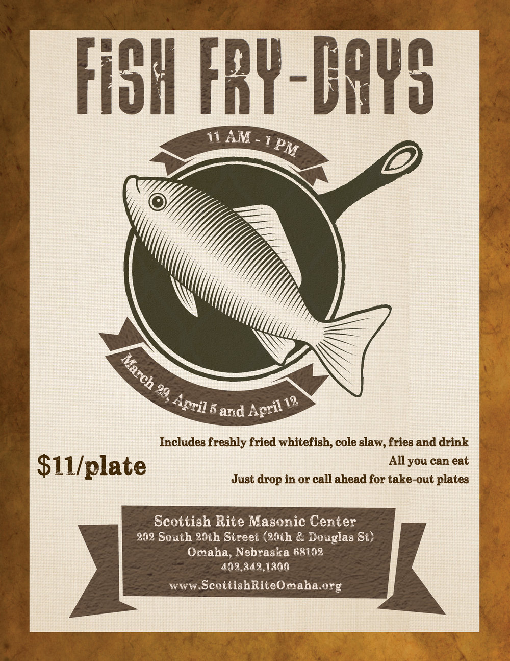 Click above to download a PDF flier for the Scottish Rite fish fries